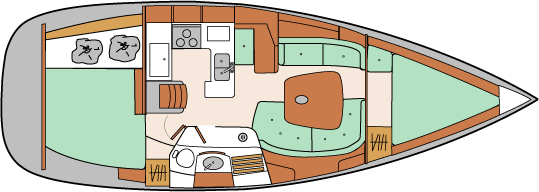 Beneteau 361 Floorplan